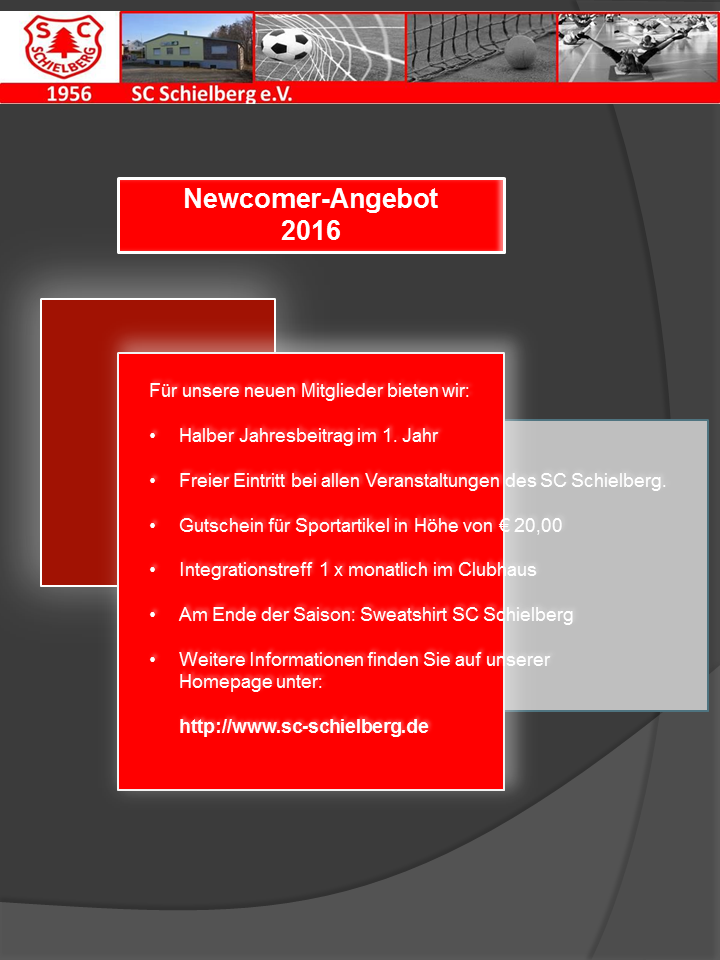 Newcomer Angebot 2016 – SCS