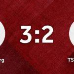 Vereinswappen vom SC Schielberg und TSV Wöschbach auf einem roten Hintergrund