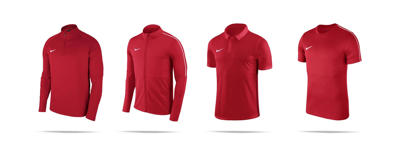 Pullover, Jacke, Polohemd und T-Shirt von Nike in rot