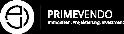 Logo von primeVendo in weiss