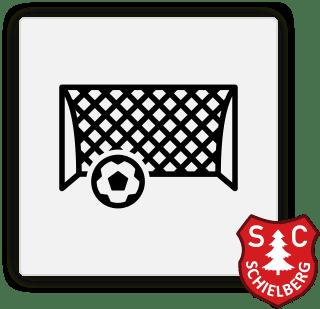 Icon mit einem Tor und Ball