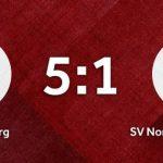 Vereinswappen vom SC Schielberg und SV Nordwest Karlsruhe auf einem roten Hintergrund